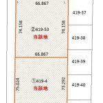苫小牧市字美沢419-4 土地(地積測量図)(地図)